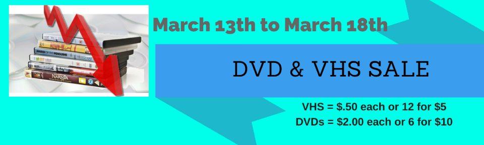 DVD & VHS SALE