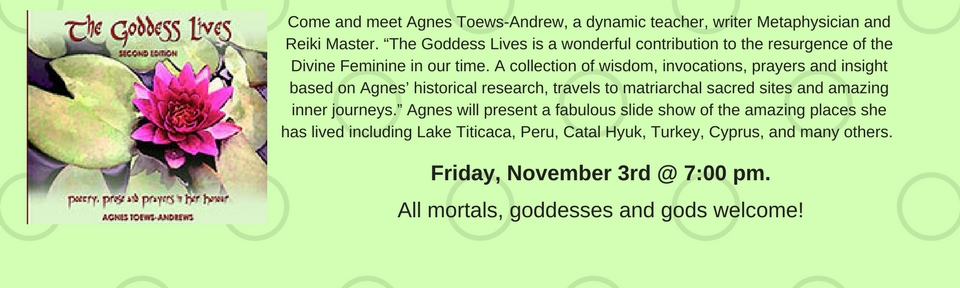 Author Tour with Agnes Toews-Andrews