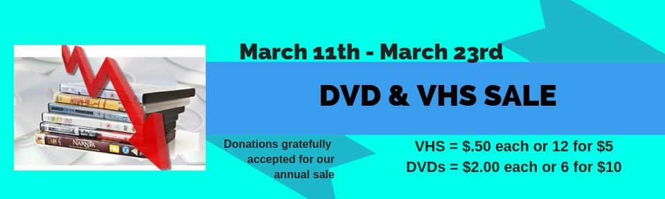 DVD/VHS annual sale